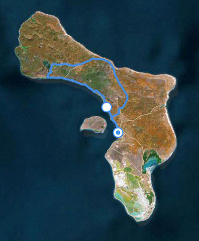 Sample itinerary for the northern route of a Bonaire birding tour.