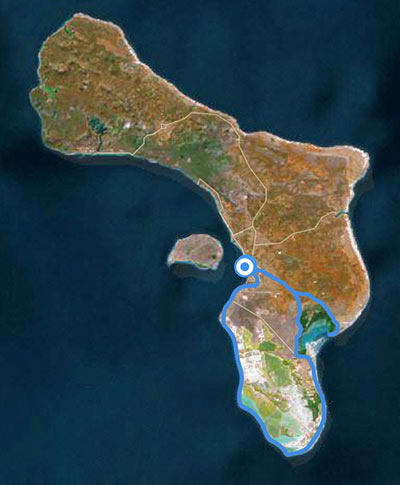 Sample itinerary for the southern route of a Bonaire birding tour.