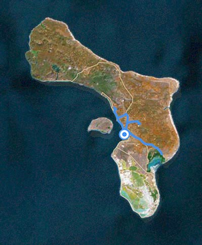 Sample itinerary for the interior route of a Bonaire birding tour.