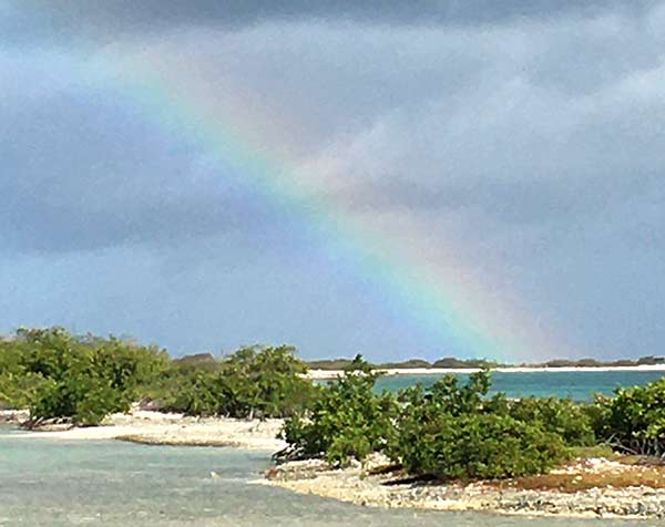 A rainbow on Bonaire.